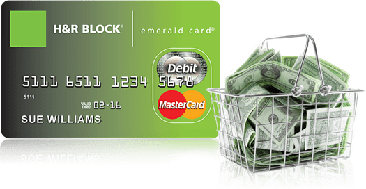 The H&R Block Emerald Prepaid Mastercard ® is a tax refund-related deposit product issued by Axos Bank ™, Member FDIC, pursuant to a license by Mastercard International Incorporated.