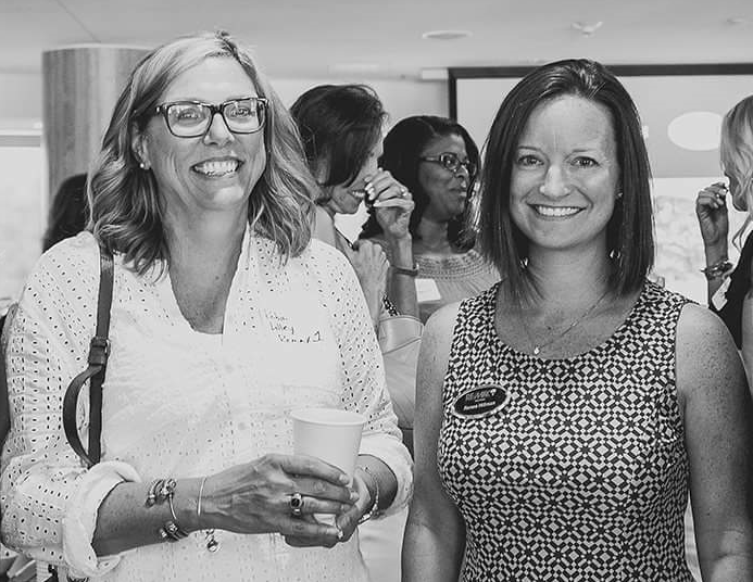 Beth and Renee at a networking event