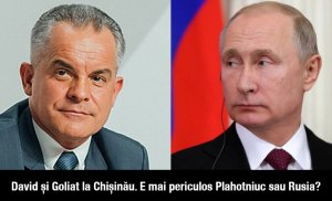 David și Goliat la Chișinău. E mai periculos Plahotniuc sau Rusia?