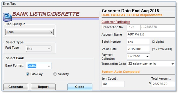 Bank Listing Screenshot