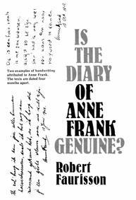 Faurisson Is the Diary of Anne Frank Genuine
