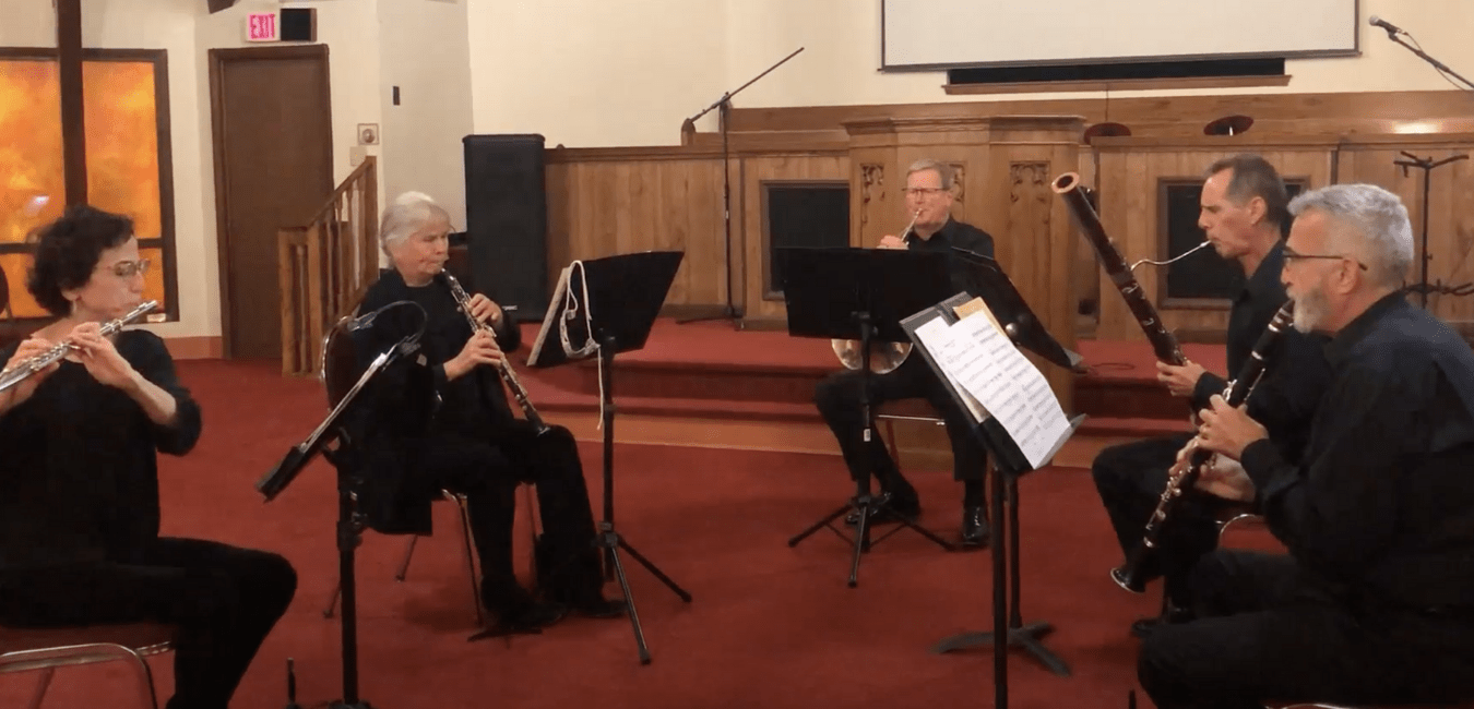 Woodwind Quartet performs during our virtual concert series