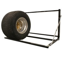 Tire Rack, Custom Length, Wall Mount, Adjustable, Folds