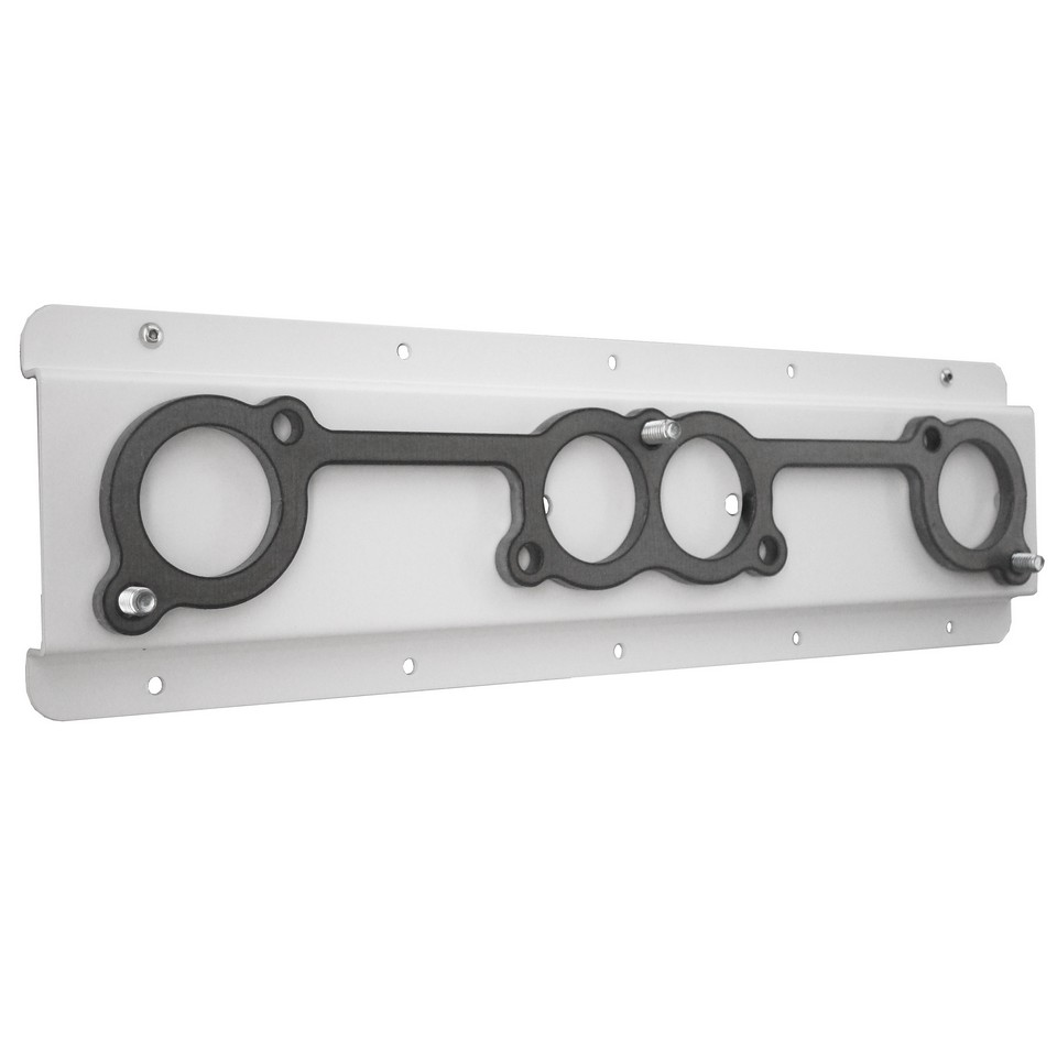hight resolution of picture of header mount for chevy spread port flat white powder coat