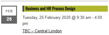 Business and HR Process Design