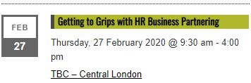 Getting to Grips with HR Business Partnering