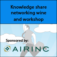 Airinc to sponsor a knowledge share networking wine and workshop