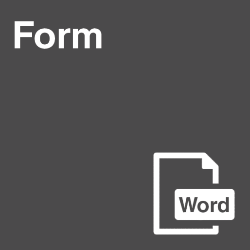 Form in Word Format
