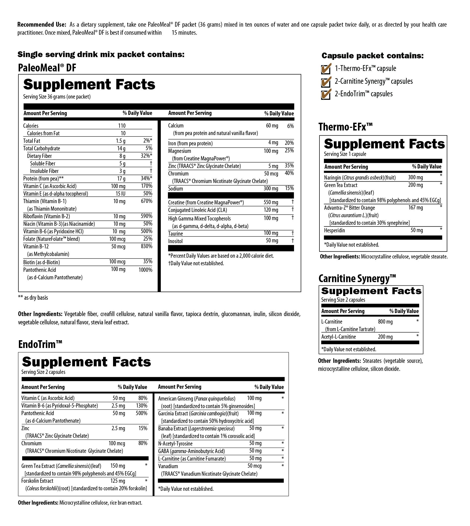 PaleoMeal® Plus Lean Body Program (Vanilla) 14 Day Program