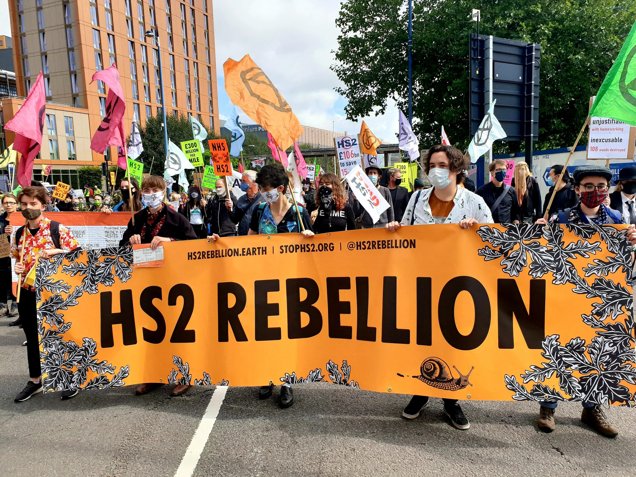 Friday 28th August: HS2 Rebellion and XR Actions