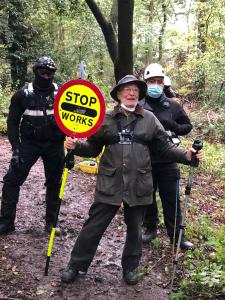 BREAKING NEWS: Jones Hill Woods protection camp eviction