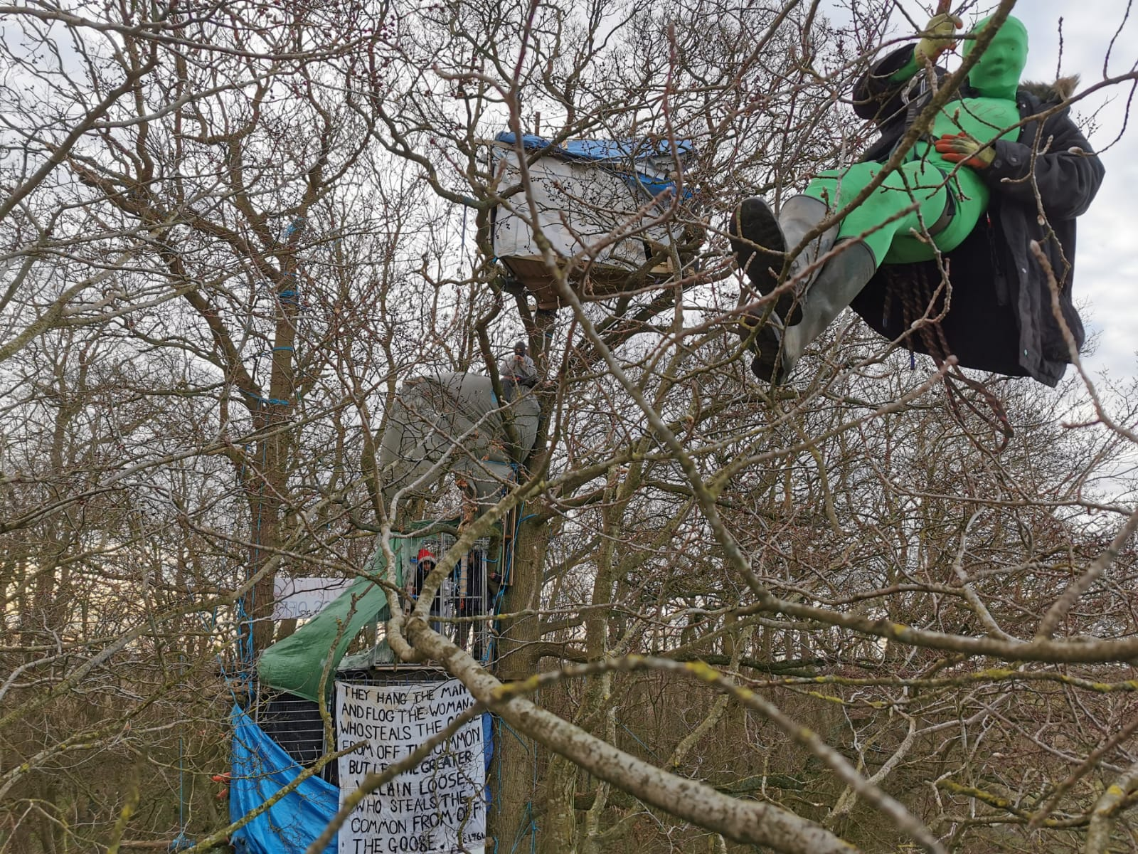 Tree protectors demand HS2 is scrapped and money diverted to NHS, as latest eviction begins
