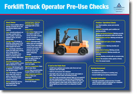 Forklift Truck Operator Checklist and Poster  Health and Safety Authority