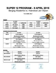thumbnail of SUPER 12 Program vs Jan Viljoen 9 April 2016