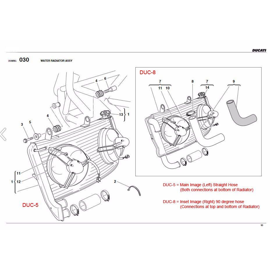 Parts :: Ducati :: 749 / 999 :: Radiator :: Samco Ducati