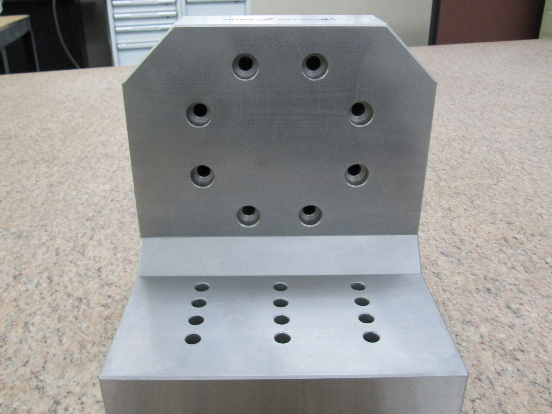 Stainless Steel Angle Plate with System 3R Macromagnum  Hermann Schmidt Precision Workholding