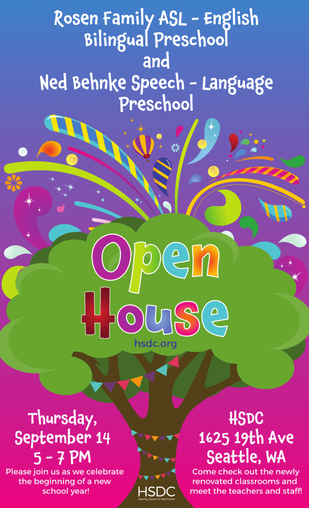 preschool open house flyer