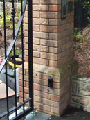 Photograph 1: Brick Pillars - Corbelled brick pillar increasing gap size