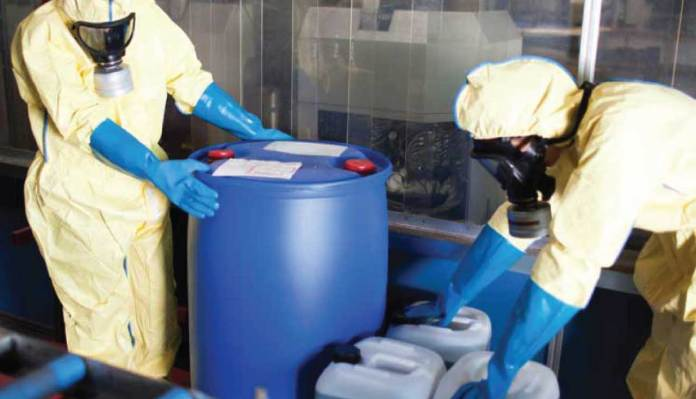 Safety In the Use & Handling of Hazardous Chemicals