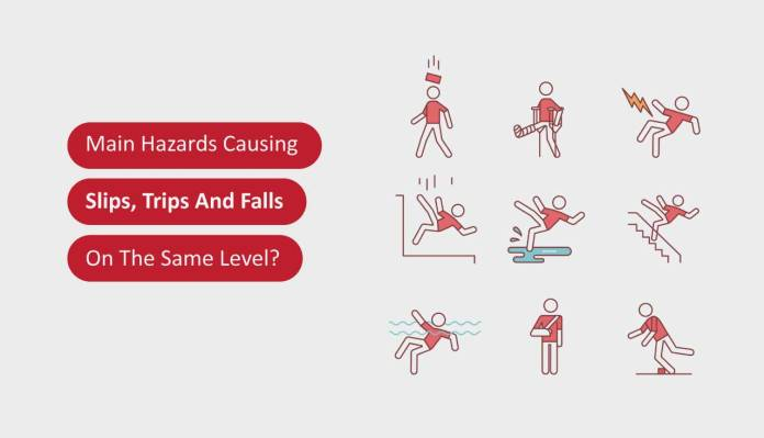 The Main Hazards Causing Slips, Trips And Falls On The Same Level
