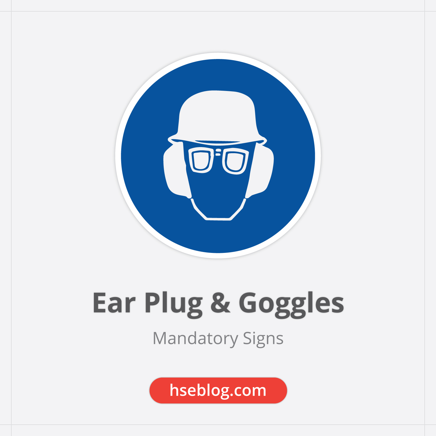 Ear Plug And Goggles