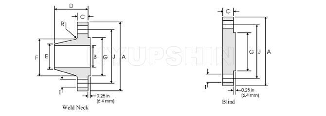 Supply Flange ANSI B16.47 Series B Class 400, 600, 900