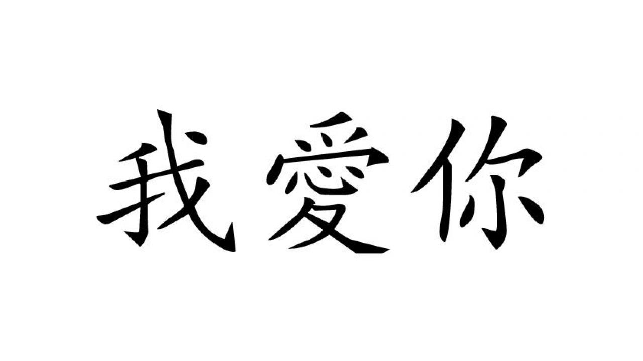 Wandtattoo  Chinesische Zeichen Ich Liebe Dich