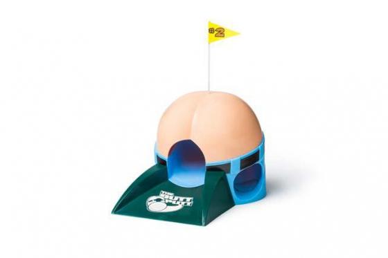 Golf Putting Trainer mit 6 lauten Furzgerus  geschenkparadiesch