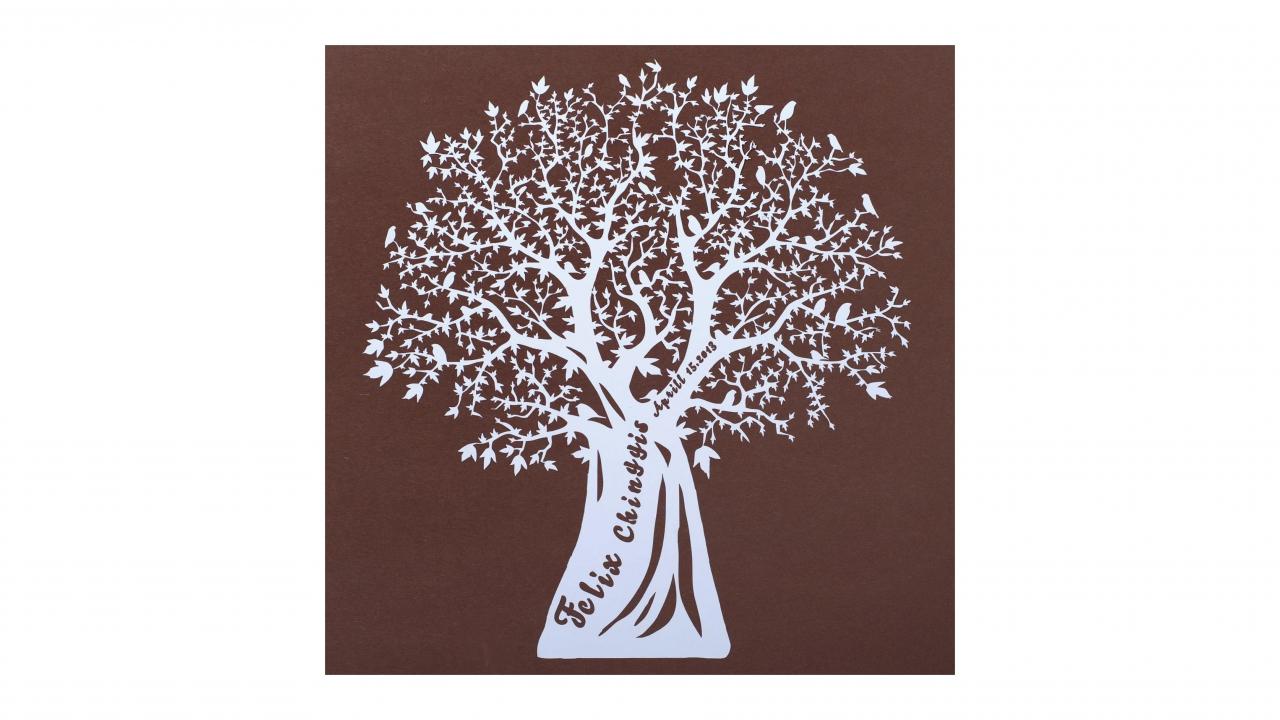 Wandbild Lebensbaum Name  Geburtstag  Personalisiert