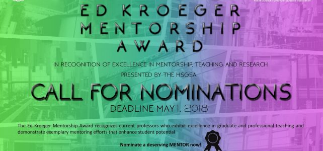 Ed Kroeger Mentorship Award