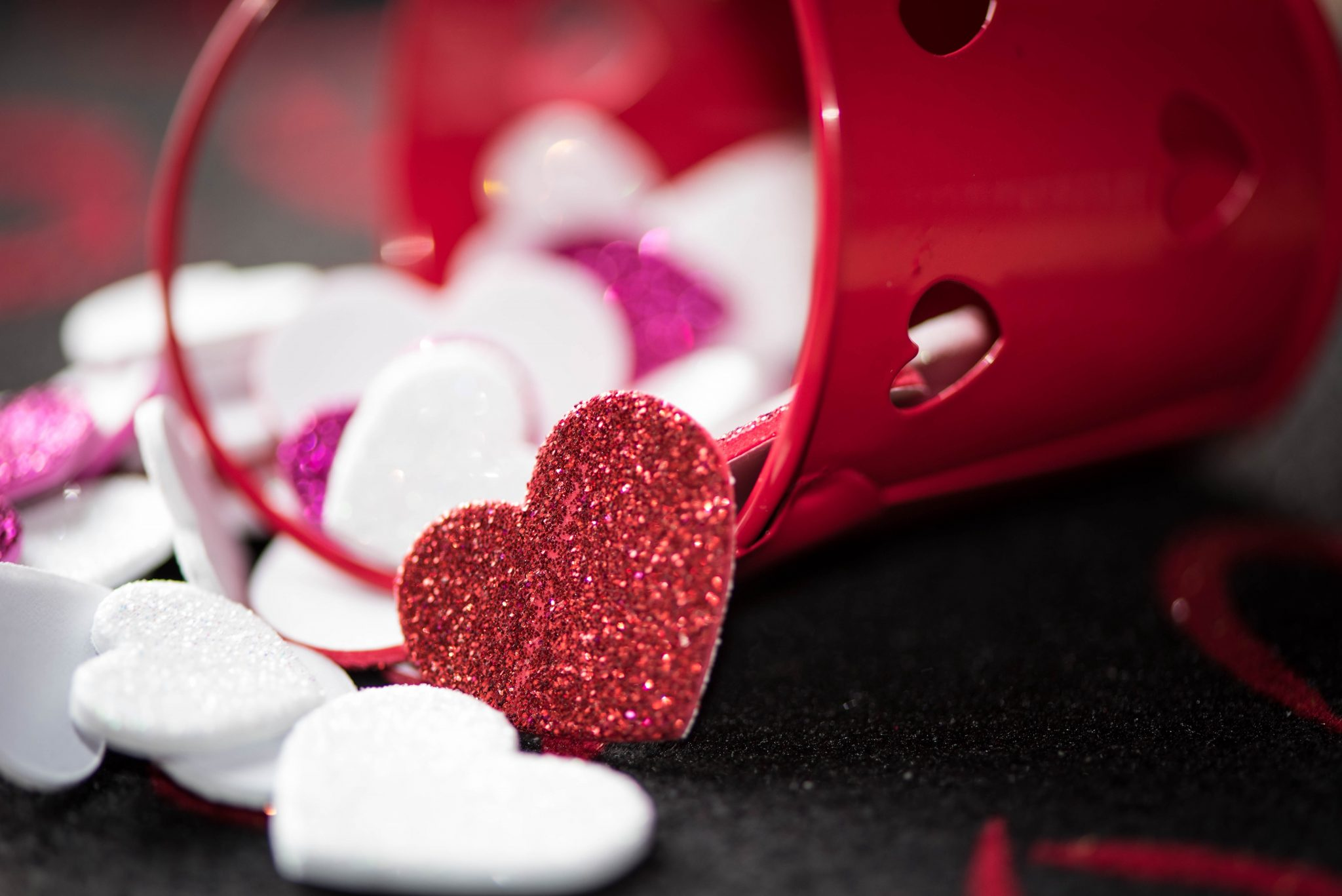 craft hearts in a bucket