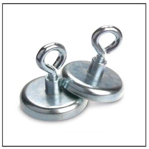 neodymium pot magnets with eyelet