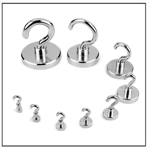 Neodymium Pot Magnets with Hook