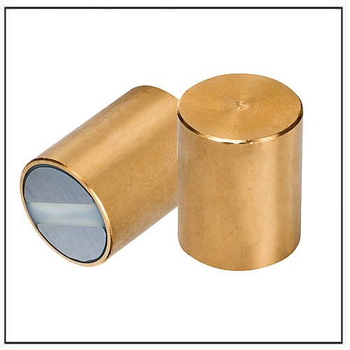 SmCo Magnet Cylindrical Pot brass body with fitting tolerance h6
