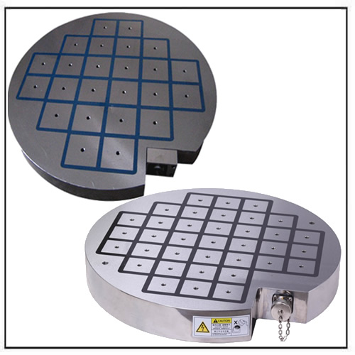 Round-Electro-Permanent-Magnetic-Chuck-with-Square-Poles-EPQ-series