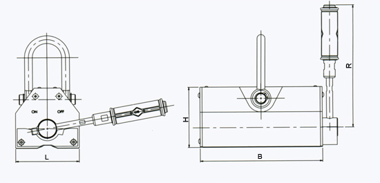manual-permanent-lifting-magnet-c-series-drawing