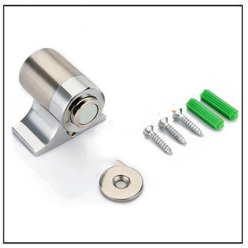 Satin Finish Magnetic Door Stopper Touch Latch Holder