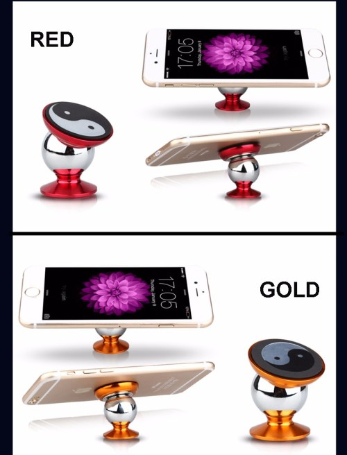 1 Tai Chi Universal Mobile Phone Car Mount Kit 360 Degrees Sticky Magnetic Mobile Phone Holder