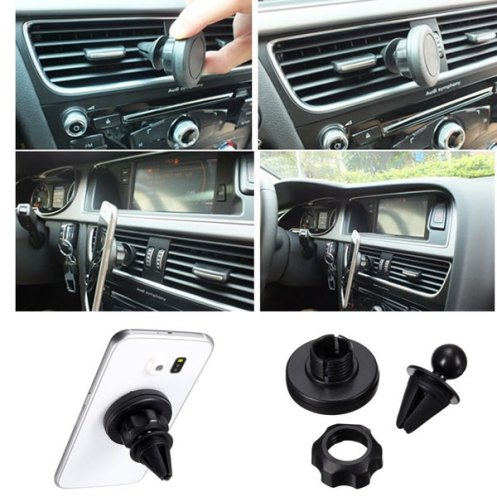 360 Degree Auto Car Mount Sticky Magnetic Stand Holder For Smart Phone