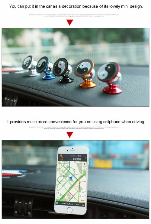 360 Degree Rotation Car Phone Holder Stand Magnet