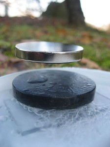Stable Levitation of magnet on the superconductor