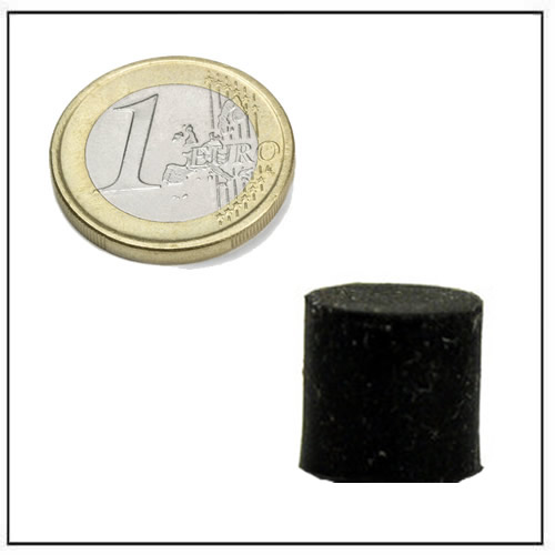 Ø 10 x 10 mm Small Disc Neodymium Magnet with Black Rubber Coating
