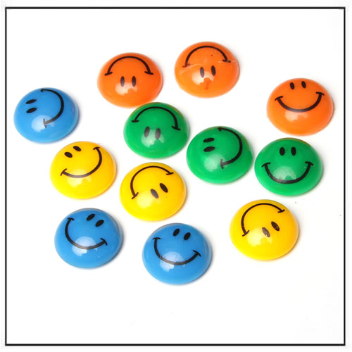 Smile Face Round Magnetic Pin Button Fridge Magnets