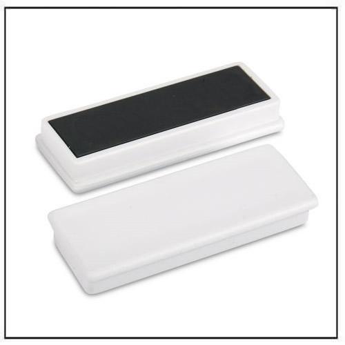White Plastic Coated Rectangular Ceramic Ferrite Magnet