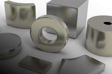 neodymium iron boron permanent magnet (NdFeB)