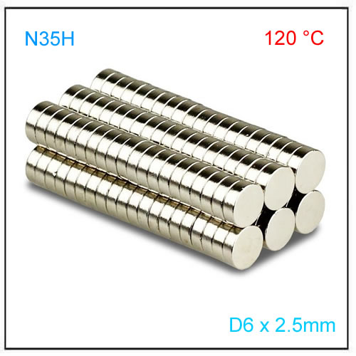 D6x2.5mm N35H Diametric Disc Magnets for rotary position sensor
