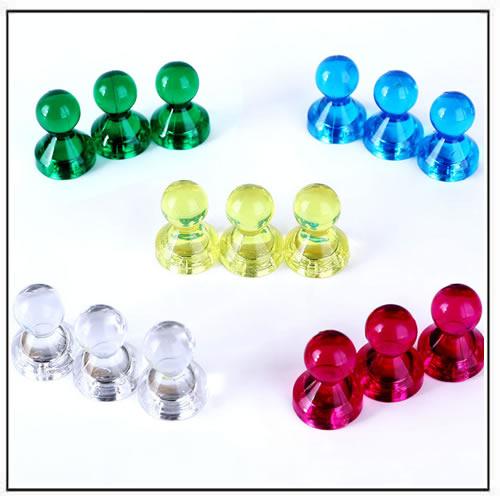 High Power Neodymium Skittle Tenpin Magnets Assorted Colors