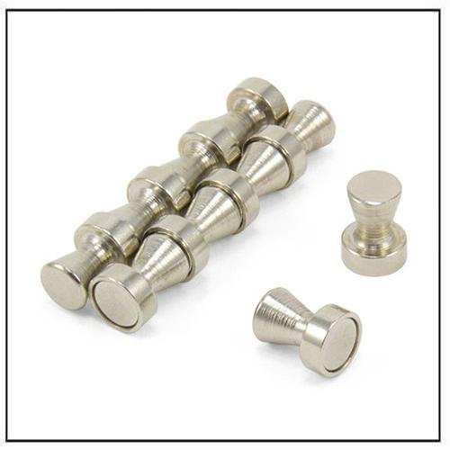 Small Brushed Chrome Neodymium Skittle Magnet