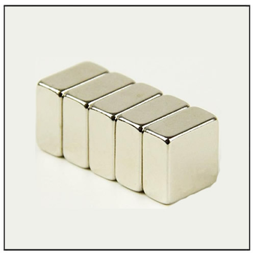 Block Neodymium Magnets 10 x 10 x 5 mm N50 Nickel Plating