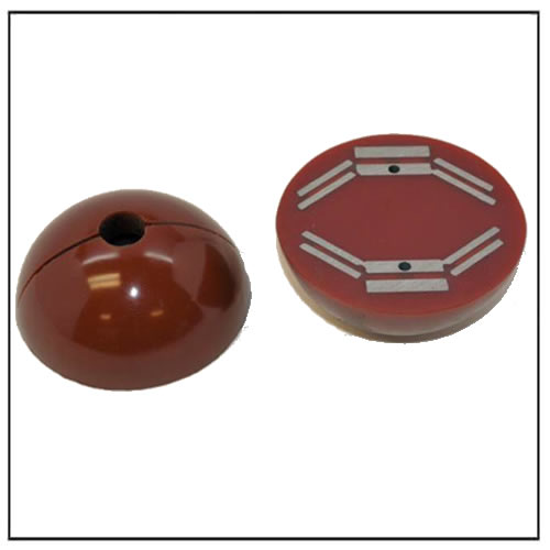 Dog Bone Pin Magnetic Recess Members with Integrated Magnets